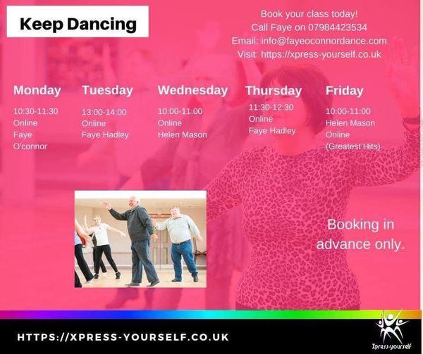 Online older adult dance class